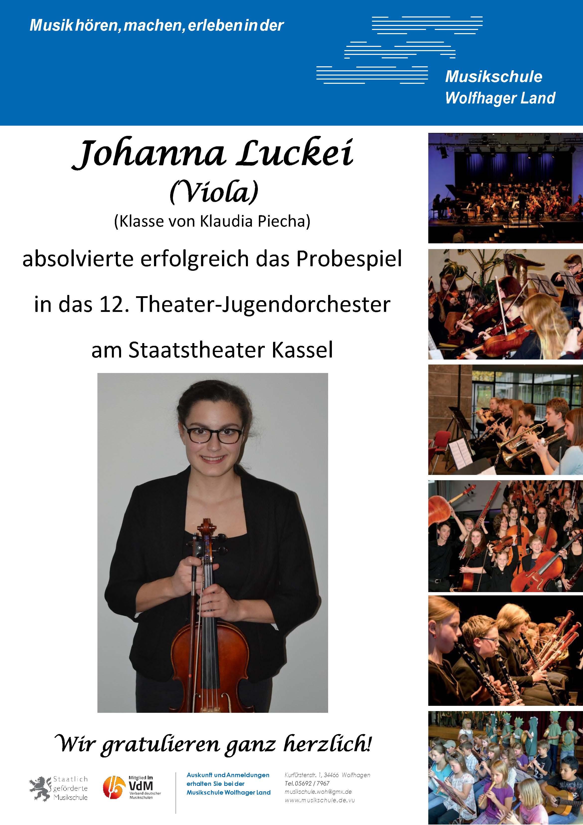 Plakat Johanna